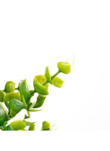 Çiçekmisin Kuş Dal Yapay Yeşillik Beyaz